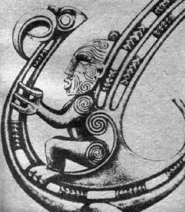 According to the Maori legend the god Pourangahua flew on his magic bird
