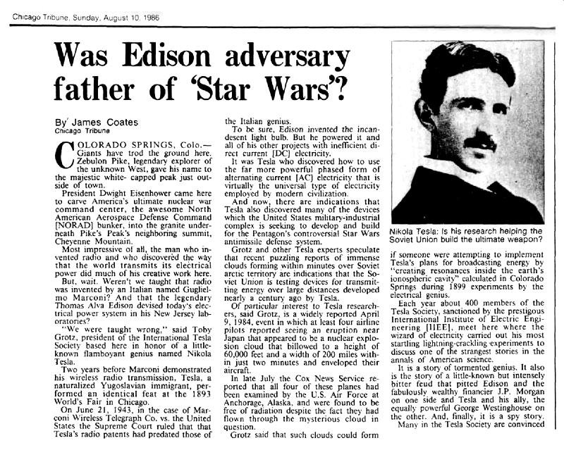 Scalar Waves and Tesla Shields - Nikola Tesla - Father Of ...