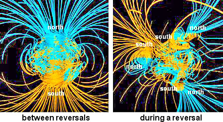 Earths Magnetic Field Reversal A south magnetic pole might