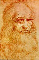 Leonardo da vinci in florence italy