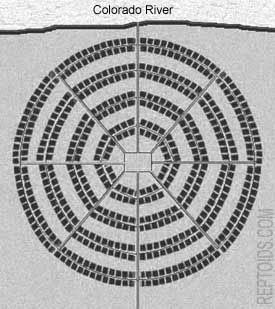 ARIZONA GAZETTE  MONDAY EVENING  APRIL 5, 1909  EXPLORATIONS IN GRAND CANYON CircularFloorPlan2_bw4web