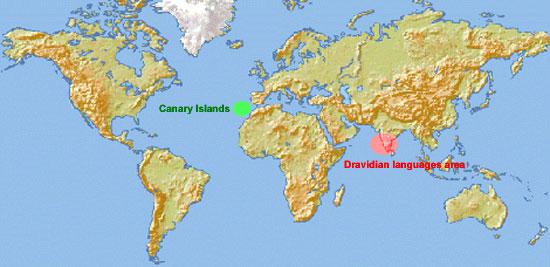 Guanche Dravidia Map