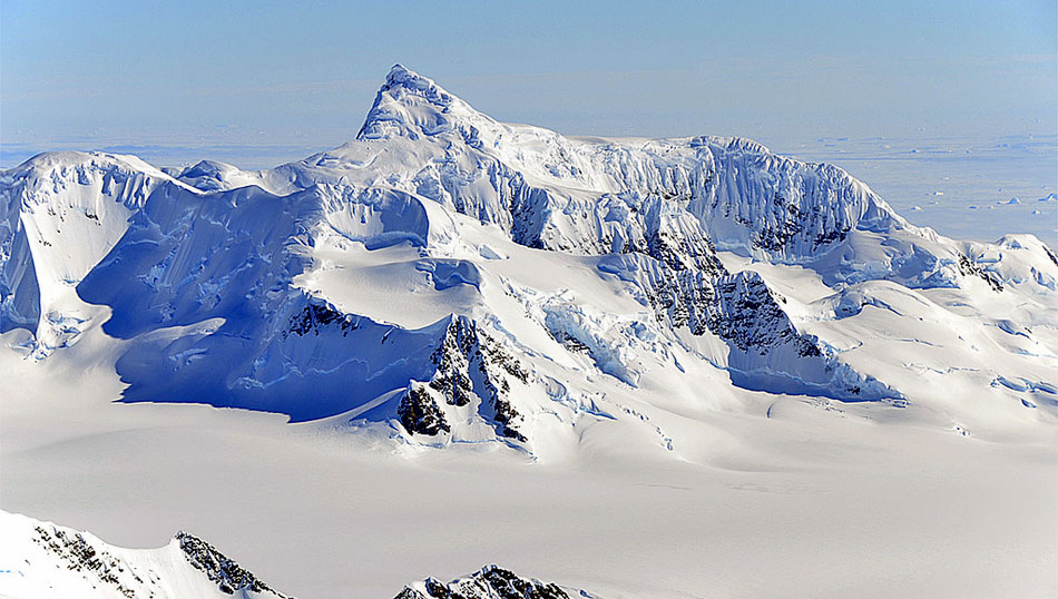 Antarctica Map Mountains