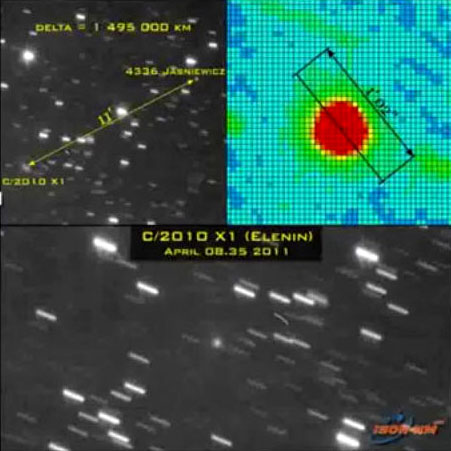 Comet Elenin and Asteroid - Pics about space