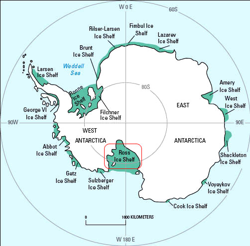plataforma de Ross (Ross Ice Shelf)