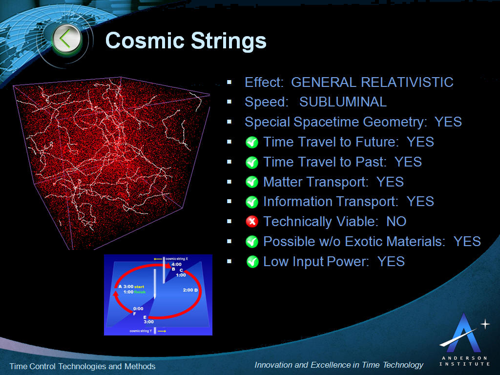 Cosmic String Theory Time Travel