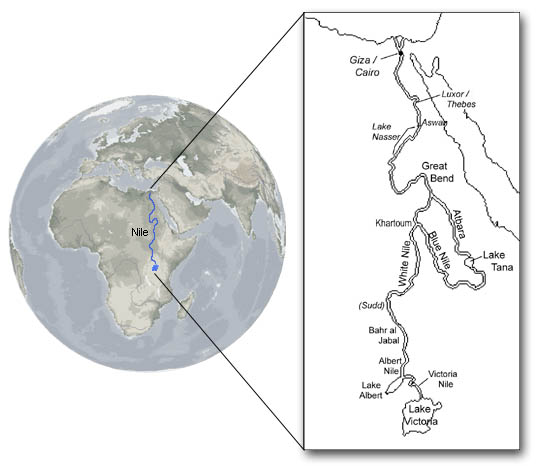 The Nile Decoded Revealing The Secret Message Of The Worlds - Nile river location on world map