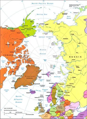 arctic region map small - Inic.