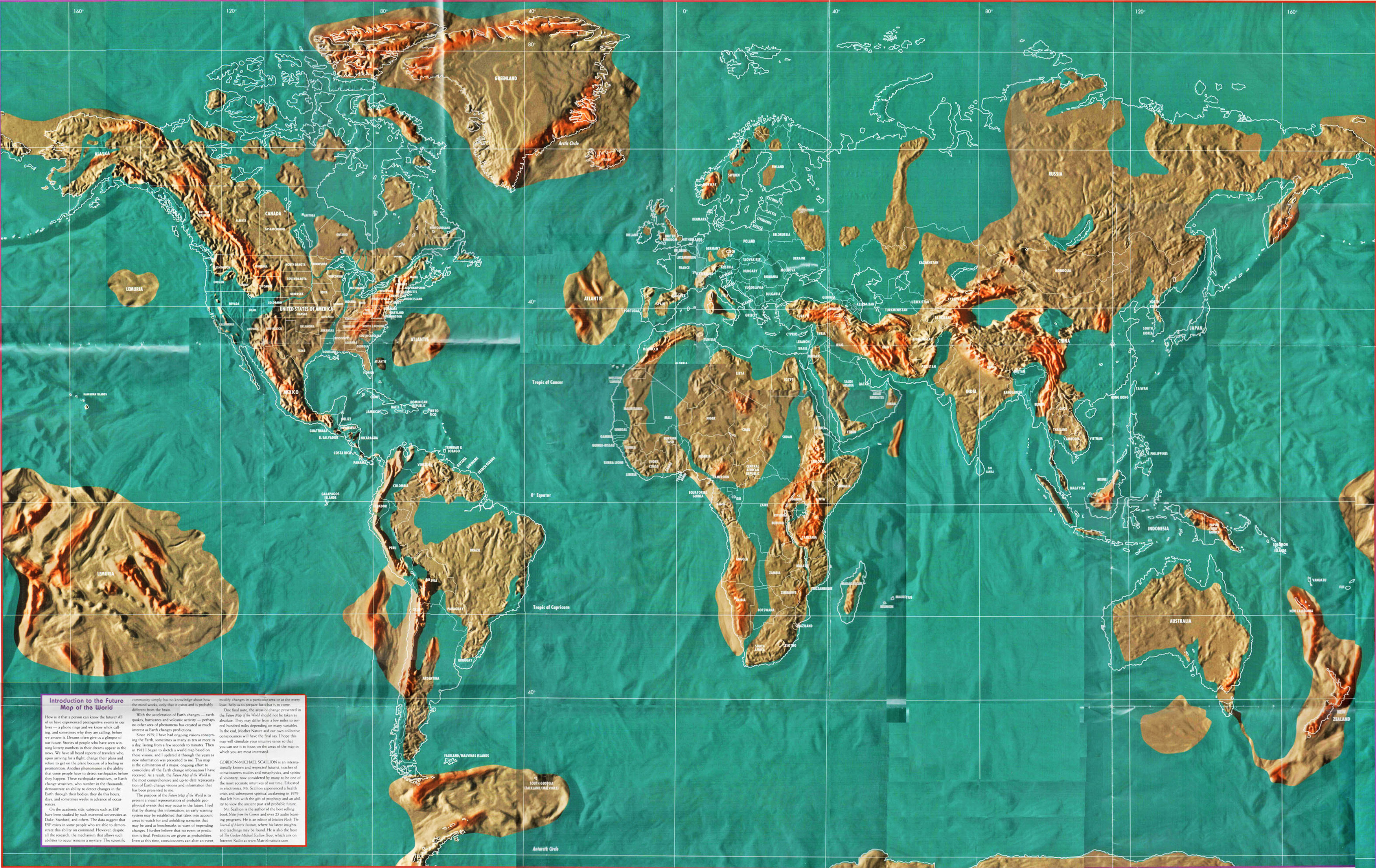 Future Map Of The World Eventual Earth Changes - Michaels us map