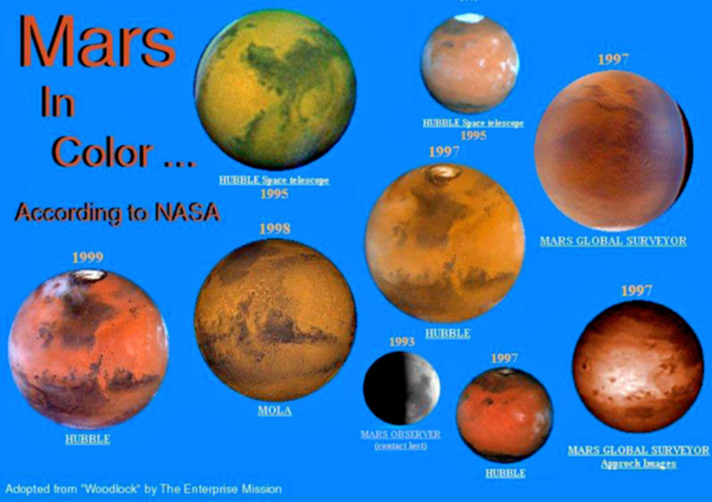 colors of the planets - photo #19