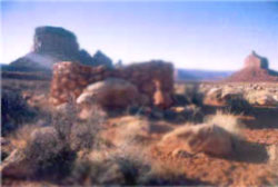 Navajo rock hogan similar in construction zawi chemi stone houses