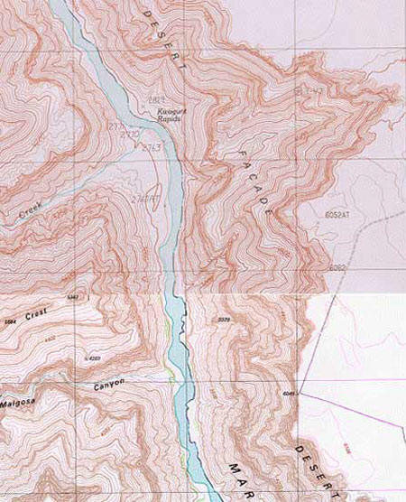 Topographic Map Grand Canyon.The Location Of Kincaid S Cave Revealed