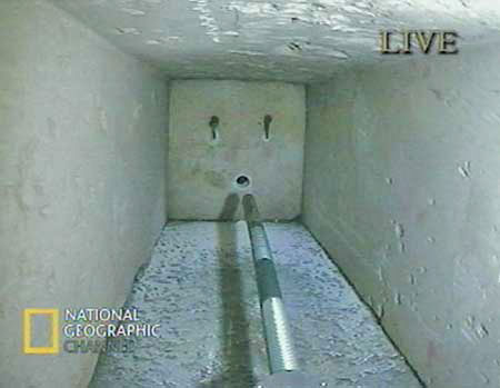 The \ Pyramid Rover\  is seen inside a 200-foot shaft of Egypt\u0027s Great Pyramid Tuesday & Beyond Gantenbrink\u0027s \