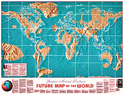 Pole Shift World Map.Possible Maps Of The Future