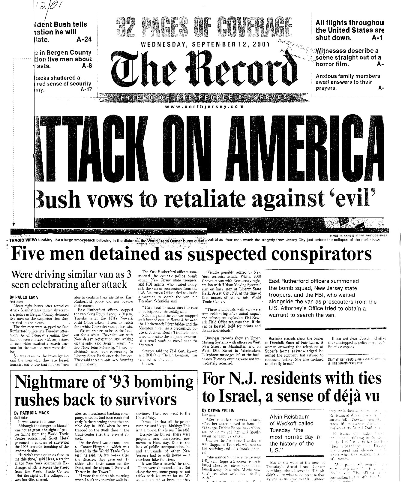 Image result for 9/ 11 attack bergen record