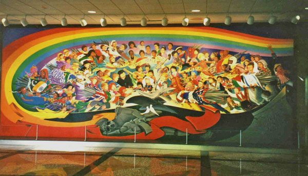 Anomalies at denver airport for Denver mural airport