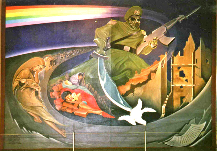 Dia denver murals conspiracy theory wings900 for Denver international airport mural