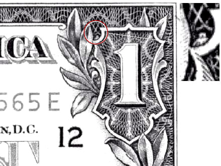 the one dollar bill secrets. American one dollar bill.
