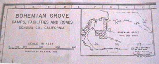 Map pf Bohemian Grove