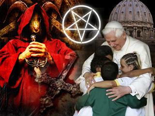 satanic ritual pope gif