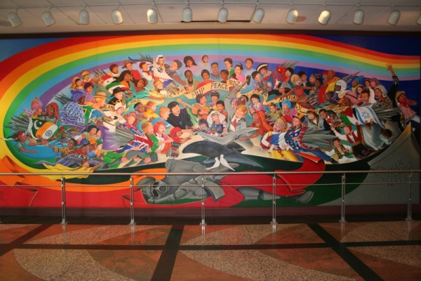 Sinister sites the denver international airport for Denver international airport mural
