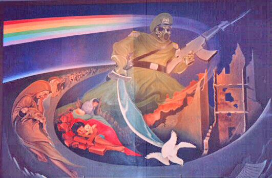 Conspiracy of the denver international airport non ski for Denver mural conspiracy