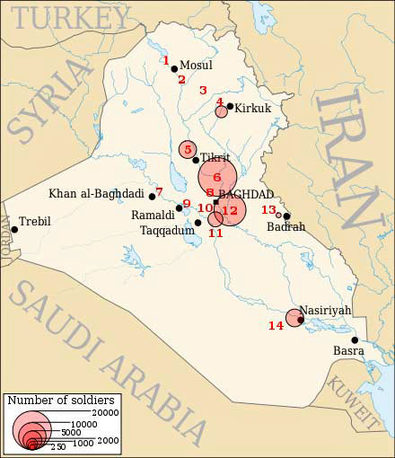 Map Of The 14 Enduring Bases I E Permanent Bases Us Military Bases In Iraq