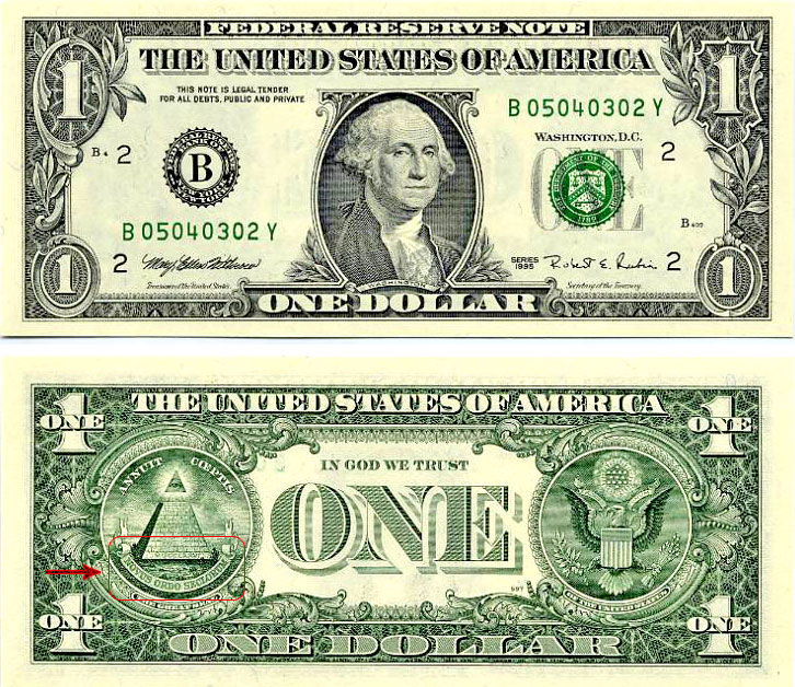 american 1 dollar bill illuminati. On the back of the dollar bill