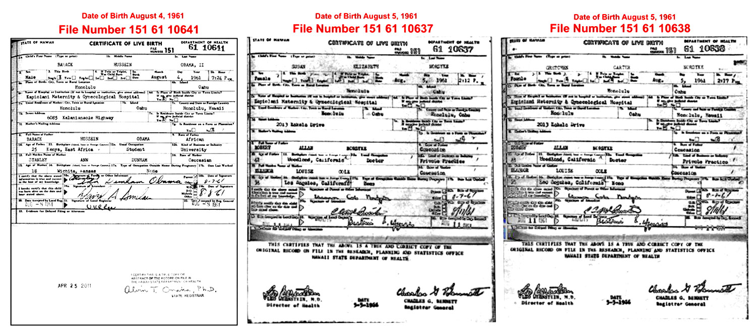 Newly Released Obama Birth Certificate Forensic Forgery Washington