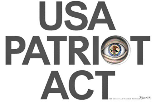 the us patriot act Under the [usa patriot] act, us officials could access information about citizens of other countries, including canada, if that information is physically within the united states or accessible.