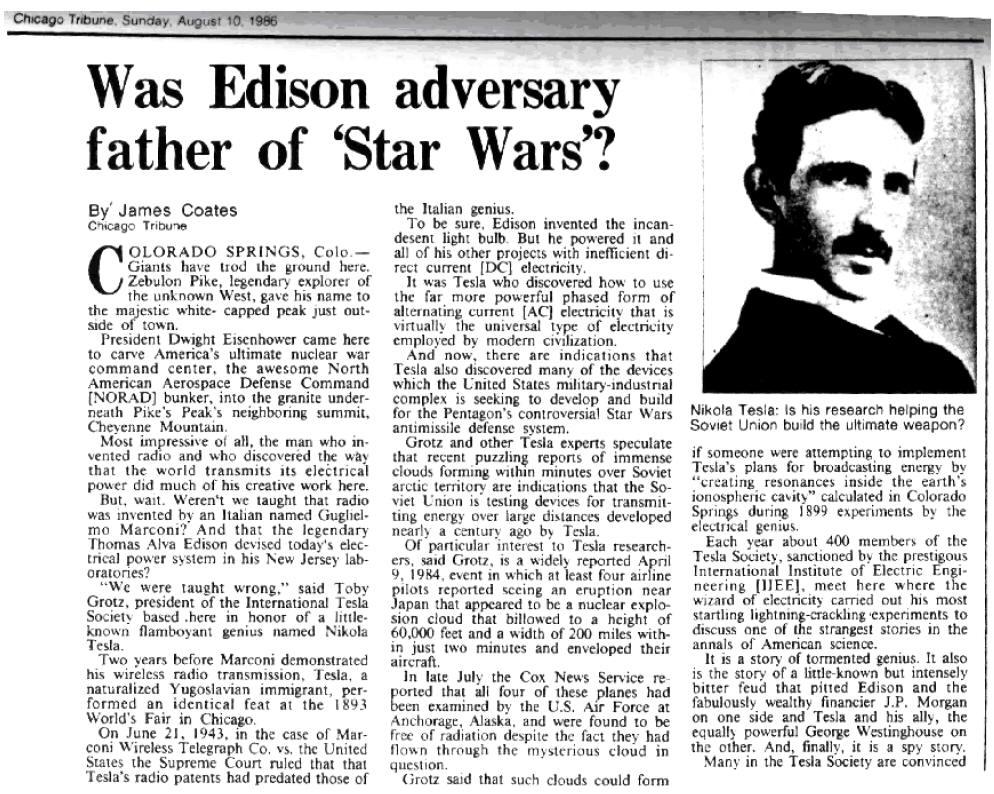 Image result for Nikola Tesla's death