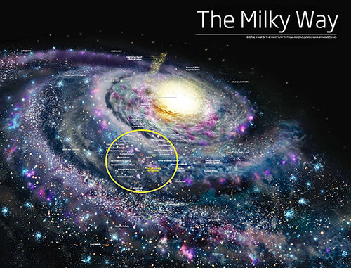 How often does the Sun pass through a spiral arm in the