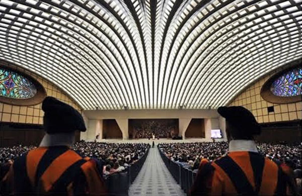 Image result for vatican audience hall