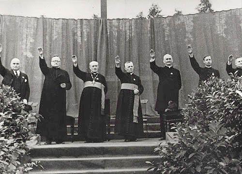 bishops nazi salute