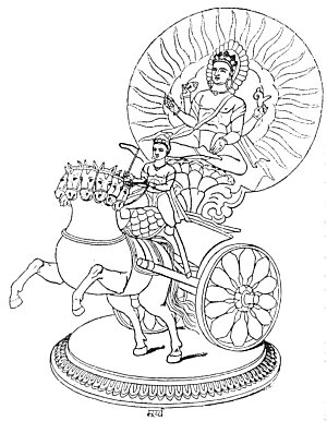 SURYA, THE REGENT OF THE SUN.