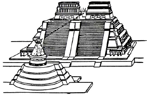 aztec pyramids coloring pages - photo#4