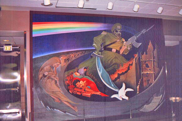 Details of murals in new denver airport for Mural in denver airport