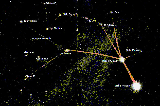 The Betty Hill Star Map